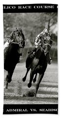 Seabiscuit Vs War Admiral, Match Of The Century, Pimlico, 1938 Hand Towel