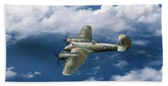 Bath Towel featuring the photograph Seac Beaufighter by Gary Eason