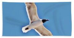 Seagull In Flight Hand Towel