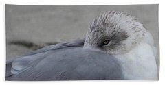 Seagull On The Beach Hand Towel