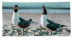 Hand Towel featuring the photograph Seagull Serenade 4954 by Ricardos Creations