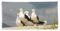 Seagulls At The Beach Hand Towel