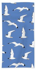 Seagulls Gathering At The Cricket Hand Towel by Elizabeth Tuck