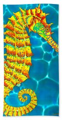 Seahorse - Exotic Art Hand Towel