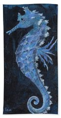 Hand Towel featuring the painting Seahorse by Jamie Frier