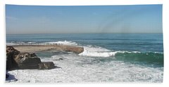 Hand Towel featuring the photograph Seal Beach by Carol  Bradley