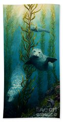 Seals Of The Sea Hand Towel by Ruanna Sion Shadd a'Dann'l Yoder