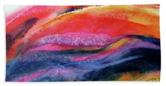 Hand Towel featuring the painting Seams Of Color by Kathy Braud