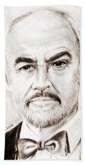 Sean Connery Hand Towel by Edgar Torres