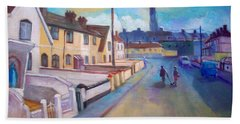 Hand Towel featuring the painting Sean Hueston Place Limerick Ireland by Paul Weerasekera