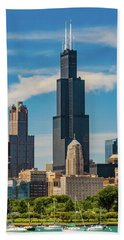 Sears Tower Chicago Hand Towel