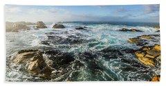 Seas Of The Wild West Coast Of Tasmania Hand Towel