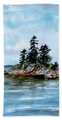 Seascape Casco Bay Maine Hand Towel
