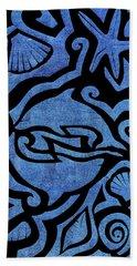 Seascape Cut-out Hand Towel