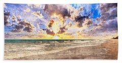 Seascape Sunset Impressionist Digital Painting B7 Bath Towel