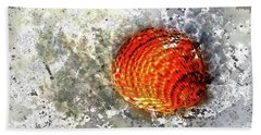 Seashell Art  Bath Towel