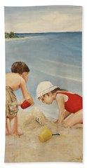 Seashell Sand And A Solo Cup Bath Towel
