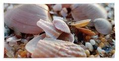 Seashells And Pebbles Hand Towel