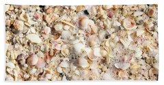 Seashells By The Seashore Bath Towel by Sandy Molinaro