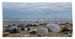 Seashells Seagull Seashore Hand Towel