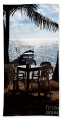 Hand Towel featuring the photograph Seaside Dining by Lawrence Burry