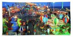 Seaside Heights Casino Pier Bath Towel by James Kirkikis