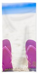 Seaside Holiday Concept With Copyspace Hand Towel