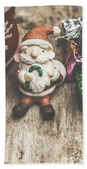 Seasons Greeting Santa Hand Towel