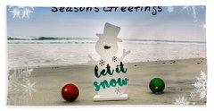 Season's Greetings Hand Towel