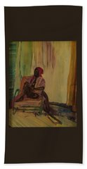 Seated Black Woman #2 Hand Towel