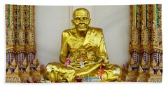 Seated Holy Man At Koh Samui Hand Towel