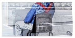 Seated Man Bath Towel