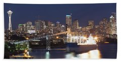 Seattle At Night Bath Towel