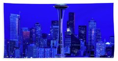 Seattle Blue Hour Bath Towel by L O C