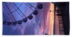 Seattle Ferris Wheel Bath Towel