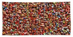 Seattle Gum Wall 2 Hand Towel by Allen Beatty