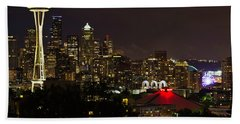 Seattle Nightscape 2 Hand Towel