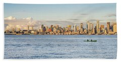 Seattle Skyline 2 Bath Towel