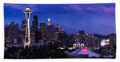 Seattle Skyline 5 Bath Towel