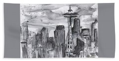 Seattle Skyline Space Needle Bath Towel