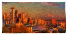 Seattle Sunset 1 Hand Towel