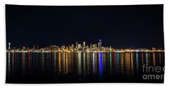 Seattle, Washington Skyline #2 Hand Towel