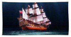 Hand Towel featuring the digital art Seaworthy by Michael Cleere