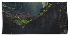 Secluded Kalalau Beach Hand Towel