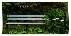 Hand Towel featuring the photograph Secluded Seating by Steve Taylor
