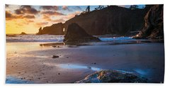 Second Beach Sunset Bath Towel