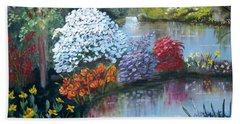 Secret Garden Hand Towel by Phyllis Kaltenbach