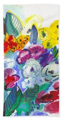 Secret Garden With Wild Flowers Bath Towel