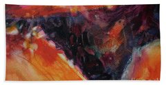 Hand Towel featuring the painting Secret Hideaway by Kathy Braud