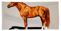 Secretariat - Triple Crown Winner By 31 Lengths Bath Towel by Cheryl Poland